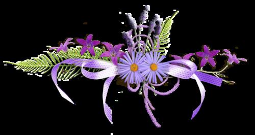 Ligne fleurs violettes