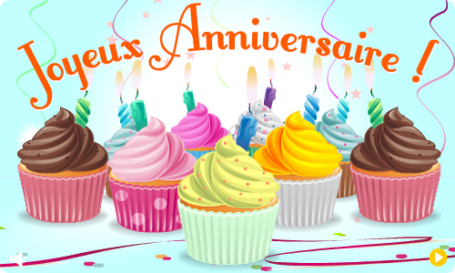 joyeux anniversaire cupcake